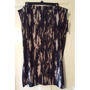 NWT Women's Plus 1X 3X Skirt Stretch Gray Black